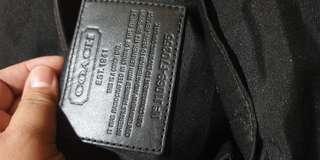 Orig Coach Black Messenger Bag