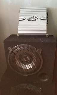 2 channel car  amplifier n woofer