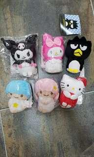 BNIB Key chains Hello Kitty Sanrio Melody Twin Stars Badtz Mary Kuromi
