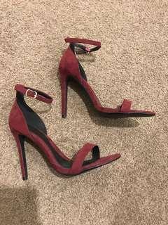 Missguided maroon heels