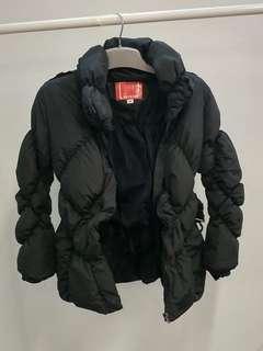保暖冬天款有型易襯黑色羽絨衣