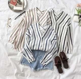 Striped Shirt top preorder