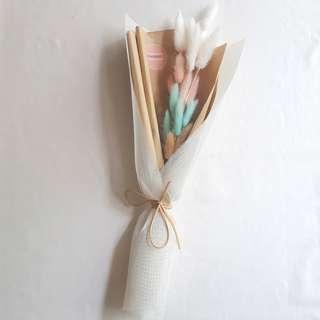 Pastel Dried Flowers Bouquet | Birthday Gift | Rabbit Tail Bouquet