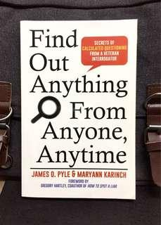 《New Book Condition + How To Ask Effective Questions》James Pyle & Maryann Karinch - FIND OUT ANYTHING FROM ANYONE, ANYTIME : Secrets of Calculated Questioning from a Veteran Interrogator