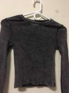 H&M crop longsleeve zipper sleeves