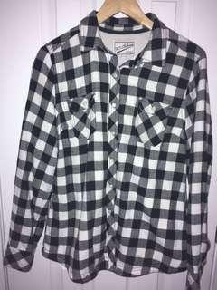 soft + fleecy plaid sweater