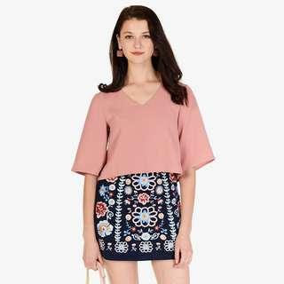 BNWT The Closet Lover Pury Embroidered Skirt