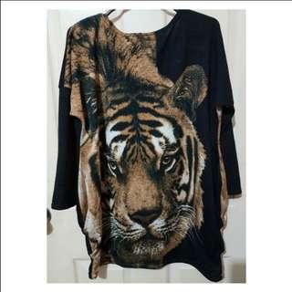 Tiger inspired blouse