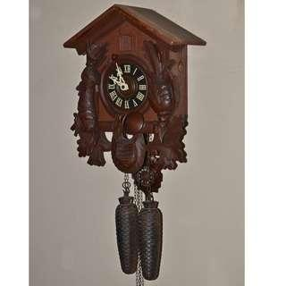 ANTIQUE VINTAGE REGULA GERMANY MECHANICAL WEIGHTS DRIVEN PENDULUM CUCKOO WALL CLOCK