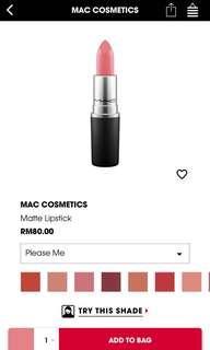 Mac authentic please me matte