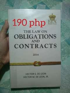 Obligation and Contracts (OBLICON) by Hector De Leon