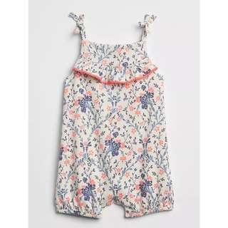 🚚 GPGL291 BabyGap Baby Girls Floral Ruffle Shorty One-Piece