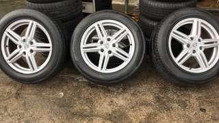 """Porsche Cayenne 19"""" Rims and Tyres (50% Threads)"""