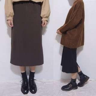 。error dot。韓製直織紋窄裙