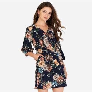 BNWT The Closet Lover Arabelle Floral Printed Sleeved Dress