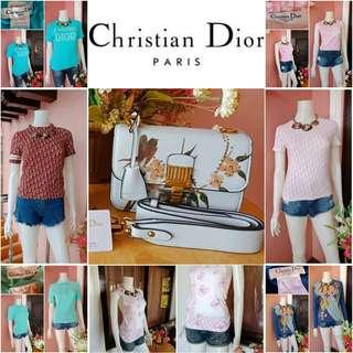 """⚠LIMITED TIME OFFER⚠ TAKE ALL Authentic Christian Dior Monogram Print Tops + Christian Dior """"DIORADDICT"""" FLAP BAG Jardin Japonais Limited Edition"""