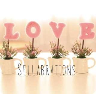 🚚 [Sellabrations] Clearance Pink LOVE wedding decorations