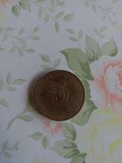 小錯體,硬幣,5元