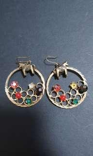 Horse crystal earrings