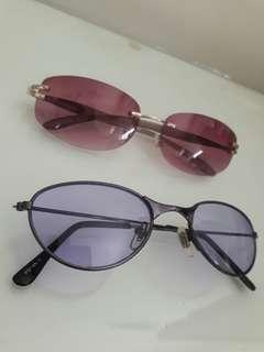 🚚 全新 酒紅色 紫色 變色鏡片 太陽眼鏡 墨鏡 防曬
