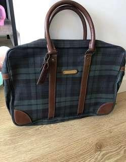 Classic Ralph Lauren Green Tartan Carry Bag