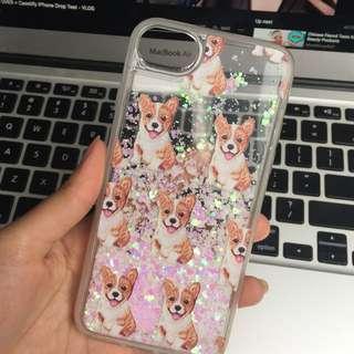 CASETIFY iPhone 6 Corgi Glitter Case