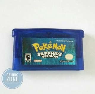 Authentic PoKéMon SAPPHIRE Version Nintendo Game Cartridge For DS Lite Game Boy Advance SP GBA pokemon