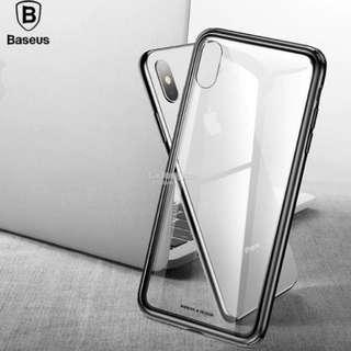 IPHONE Baseus Clear See Through Tempered Glass Case