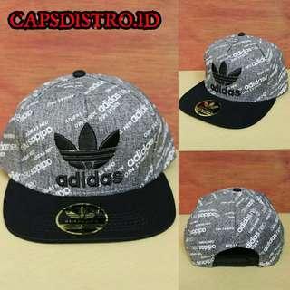 Topi Snapback Import Adidas Grey
