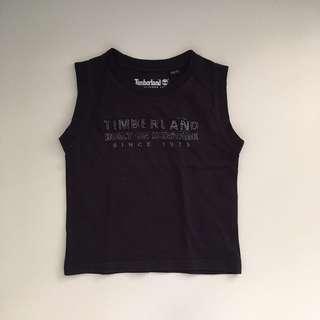 Timberland Black Sleeveless Sando Top 18months 86cm
