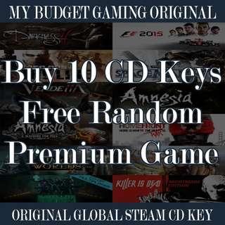 [PC STEAM] Original Steam Game Buy 10 free 1 Premium Game