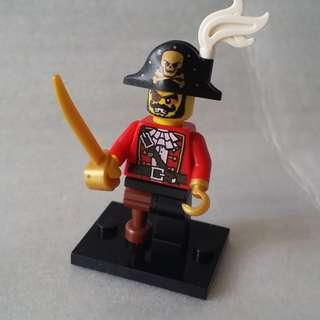 Lego 8833 Minifigures Series 8 Pirate Captain No.15 人仔 已開袋