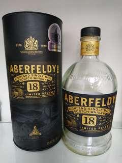ABERFELDY 18 吉樽 Empty Bottle Wine