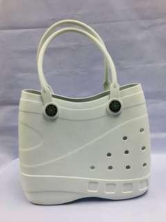 Optari Waterproof Sol Tote Bag White Made from Soft & Sturdy EVA Material lightweight (Almost New)