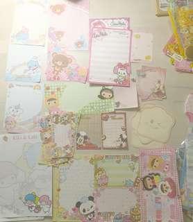 Assorted memo sheets