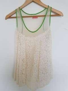 GG5 Lace and Silk Sleeveless Top