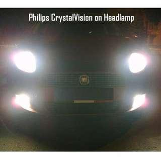 Philips Crystal Vision ( H4, H11, HB4 ) 4300K Color Temp ** INSTALLATION AVALIABLE**