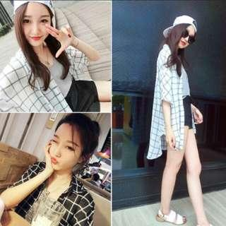 [CLEARING] Ulzzang grid outerwear 🌸