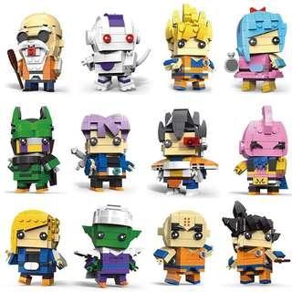 Dragon Ball Z Lego Brickheadz Building Blocks Sun Goku Saiyan Vegeta Krillin Bulma