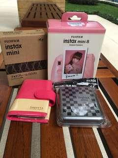 Fuji film instax mini 8 pink - new ( 1 set )