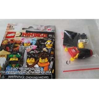 Lego 71019  Minifigures Ninjago #17 Movie Gong & Guitar Rocker 連底板 說明書 包裝袋 (全新開袋確認)