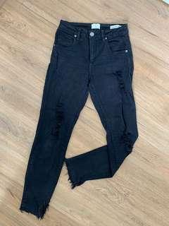 Ripped stretchable jeans black