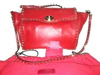 AUTHENTIC QUALITY VALENTINO GARAVANI ROCKSTUD SMALL BAG WITH SLING, SERIAL AND DUSTBAG