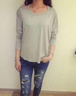 Size 6-10 grey long sleeves