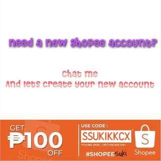 Create a new shopee acount