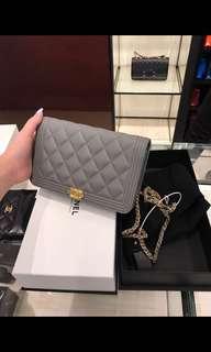 🚚 Chanel Boy Wallet On Chain Bag