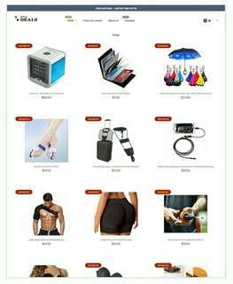 Website dropship ready ecommerce site