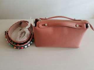 Pedro tote sling bag Fendi look a like Salem color get 2 straps