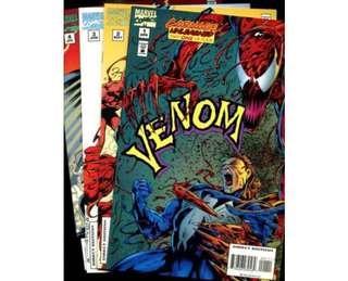 VENOM: CARNAGE UNLEASHED #1 - 4 (1995) Complete set