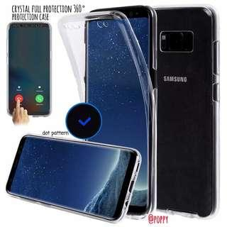 S8 & Samsung Note 8 Crystal Clear Full 360° Protection Case